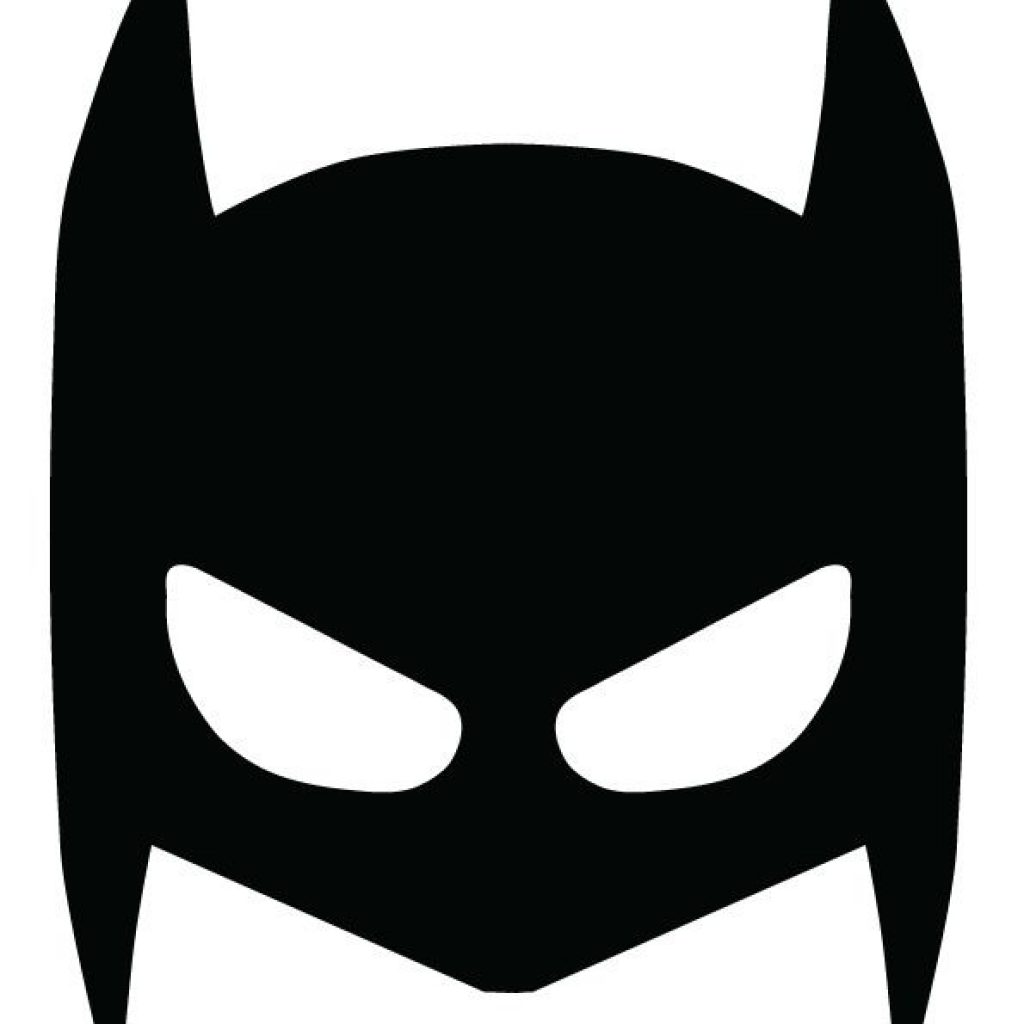 S u p e r h e r o fun with printable mask for Batman face mask template