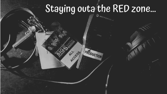 Staying outa the RED zone…